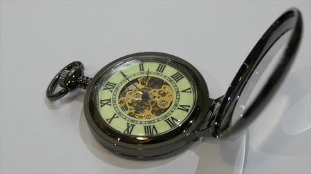 minute : Pocket watch on white