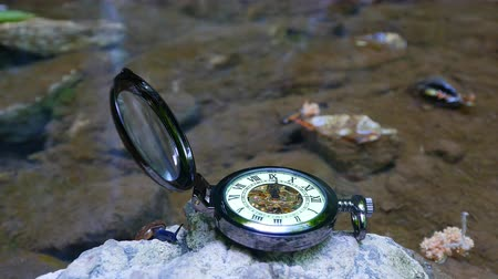 tarcza zegara : Pocket watch with river in background