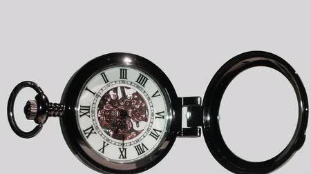 stoper : Pocket watch on white background.