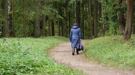 Elderly women walk in the Park
