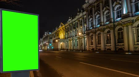 quadro de avisos : Billboard green screen Petersburg.Russia