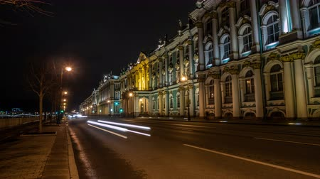 winter palace : The State Hermitage Museum at night. Saint-Petersburg.Russia