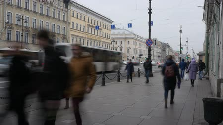 nevsky : Saint-Petersburg.Russia.11.15.2018.People on the street