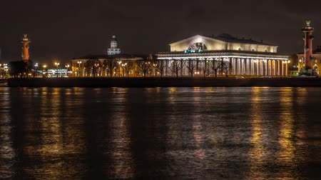 плевать : Arrow of Vasilevsky island in the night.Saint-Petersburg.Russia