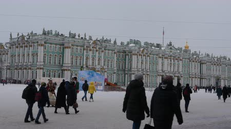 kolumny : Saint-Petersburg. Russia.the State Hermitage Museum Wideo