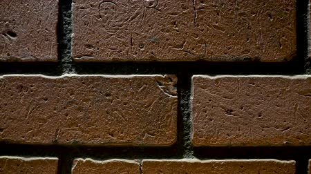 кирпичная кладка : Background brick wall Стоковые видеозаписи