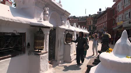 chant : Kathmandu, Nepal - 17 October 2011: Sacred place for believers on Durbar Square.