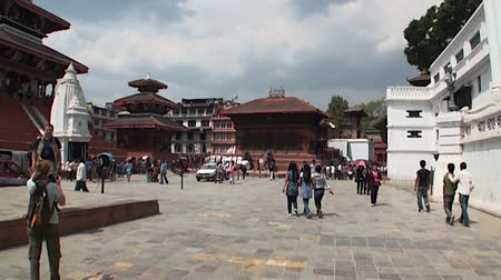 chant : Kathmandu, Nepal - 17 October 2011: Buildings in Durbar Square and its surroundings. Very beautiful.