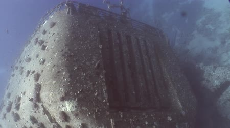 salem express : Ship wreck Salem Express underwater in the Red Sea in Egypt. Extreme tourism on ocean floor in world of coral reefs, fish, sharks. Researchers of wildlife blue abyss. Deep diving.