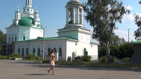 elisabeth : Alapaevsk, Russia - 17 July 2012: Orthodox church Holy Trinity Cathedral. Here were stored bodies of murdered princes of Romanovs and St. Elizabeth Feodorovna