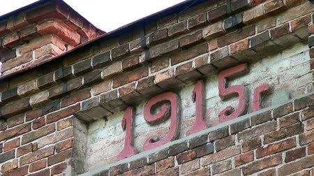 paley : Alapaevsk, Russia - 17 July 2012: Building, which contained relatives of Nicholas II before their execution. Historical religious place of Remembrance of Representatives of Russian Imperial House. Stock Footage