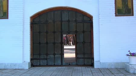 governor : Alapaevsk, Russia - 17 July 2012: Gate of monastery of New Martyrs and Confessors. Building is located on spot where on July 18, 1918 Elizaveta Romanova and princes were dumped alive in mine.
