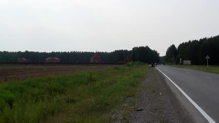 romanov : Alapaevsk, Russia - 17 July 2012: Road to monastery of New Martyrs and Confessors. Building is located on spot where on July 18, 1918 Elizaveta Romanova and princes were dumped alive in mine.