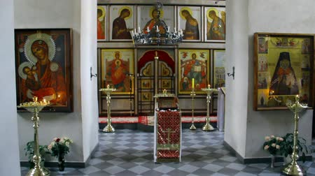 romanov : Alapaevsk, Russia - 17 July 2012: Icon in monastery of New Martyrs at venue death of Romanov. Religious relic is located in building on site of executions of Elizabeth Feodorovna.