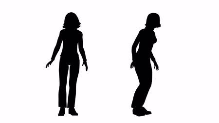 siluety : loop drunk woman silhouette