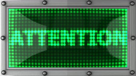 atenção : attention  announcement on the LED display Vídeos