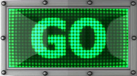 gidip : go  announcement on the LED display Stok Video