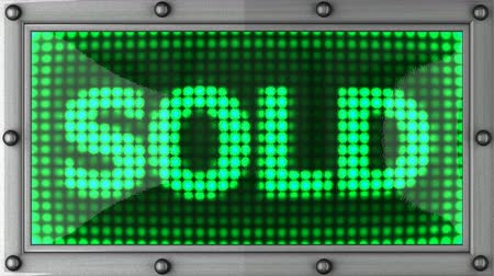 satılır : sold  announcement on the LED display Stok Video