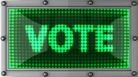 направление : vote  announcement on the LED display