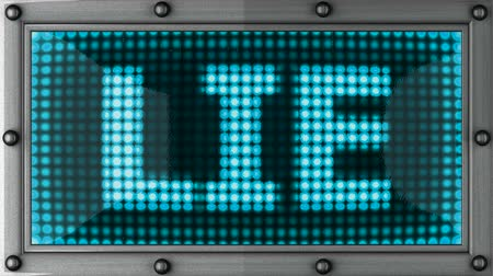 yalan : lie  announcement on the LED display