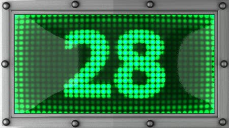 aşağı : count down announcement on the LED display Stok Video