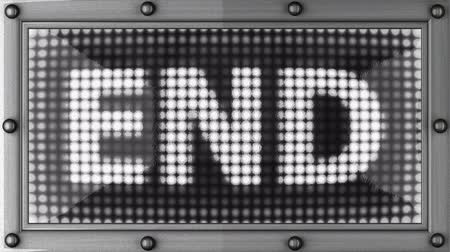 konec : end announcement on the LED display