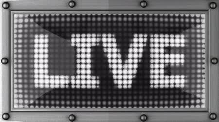 жить : live announcement on the LED display