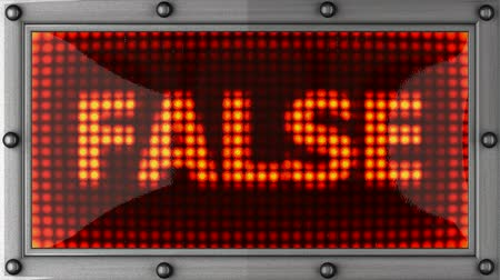 yanlış : false  announcement on the LED display