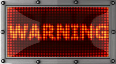 uyarmak : warning  announcement on the LED display Stok Video