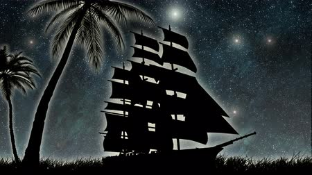 pirat : sailor ship at night