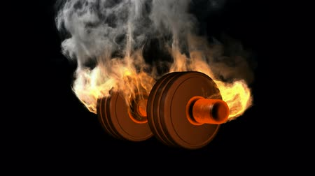 atleta : burning dumbbell. alpha matted