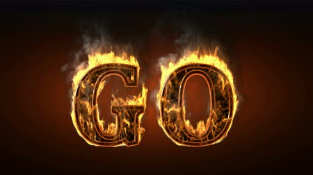alphabet : go  with fire and smoke. Alpha matted