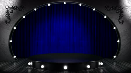 scena : loop lights on silver stage