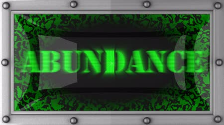 изобилие : abundance announcement on the LED display