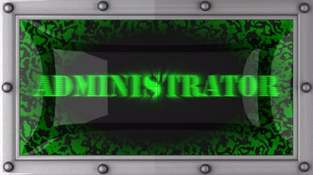 administrador : administrator announcement on the LED display