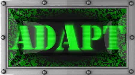 adapt : adapt announcement on the LED display