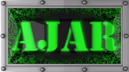 ajar : ajar announcement on the LED display