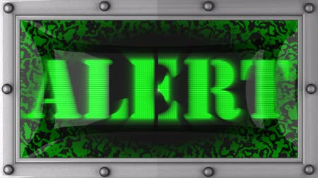 alerta : alert announcement on the LED display