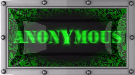 anônimo : anonymous announcement on the LED display