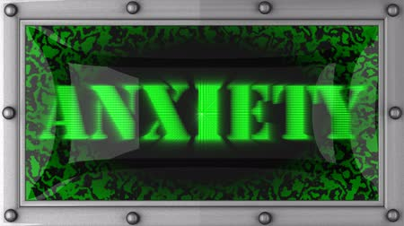 беспокоюсь : anxiety announcement on the LED display