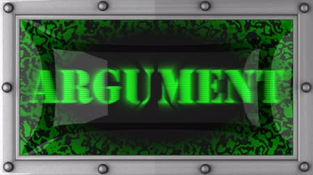 argumento : argument announcement on the LED display