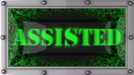 szavak : assisted announcement on the LED display
