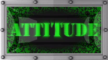 отношение : attitude announcement on the LED display