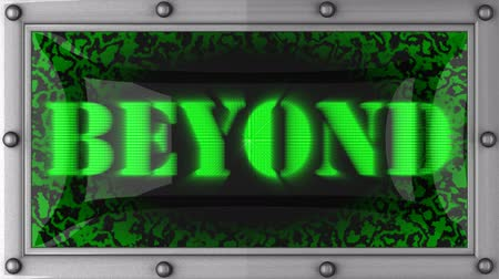 elementler : beyond  announcement on the LED display