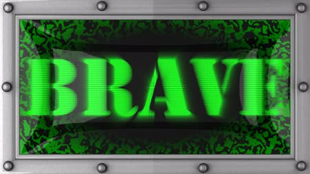 palavras : brave  announcement on the LED display