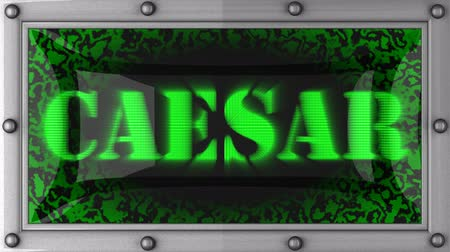 caesar : caesar  announcement on the LED display