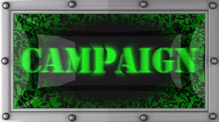 kampaň : campaign  announcement on the LED display