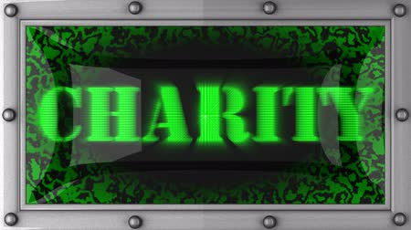 благотворительность : charity   announcement on the LED display
