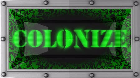 digitális tábla : colonize  announcement on the LED display
