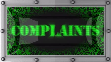 complaints : complaints  announcement on the LED display